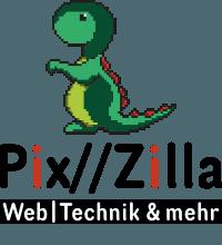 Pix//Zilla – Web, Technik und mehr Logo